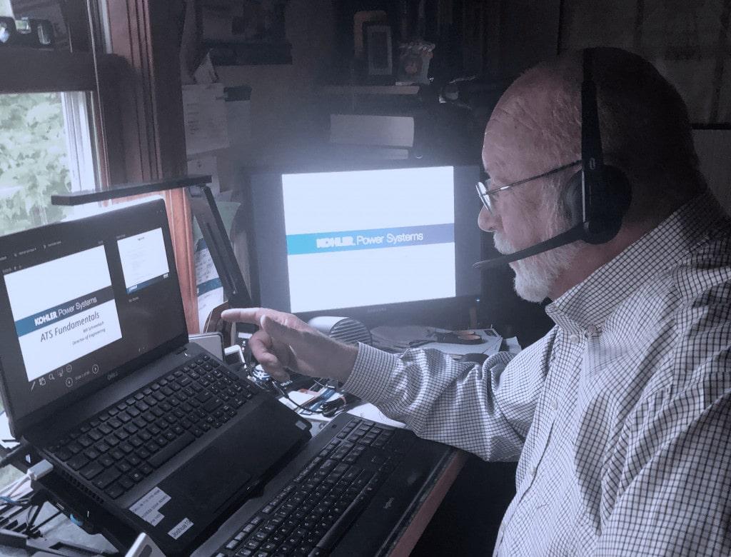 Kinsley Group employee teaching virtual CEU Course